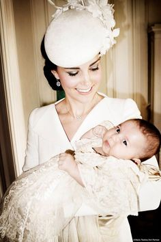 Beautiful portrait of mother and daughter at Princess Charlotte's christening