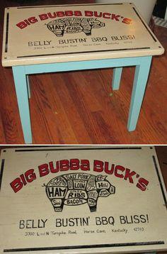 Big Bubba's BBQ Table