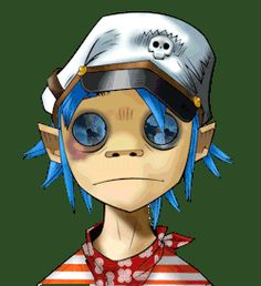 gif music edit animated gif gorillaz music videos transparent 2D Damon Albarn