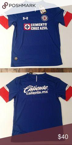 8a9f9f590 Cruz azul Home Soccer Jersey La Maquina cementera Cruz Azul Home Jersey  Under Armour Shirts Tees