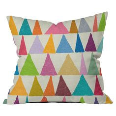 Analogous Shapes In Bloom Pillow