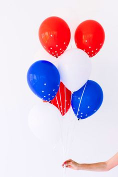 DIY festive Star-Spangled Balloons for the Fourth of July