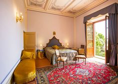 Luxury Romantic guest room at Tenuta Villa Rocchi Luxury Guesthouse in Tuscany Italy