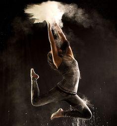 Geraldine Lamanna - Powder Dance. Dancers throwin chalk