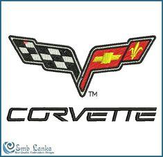 Chevrolet Corvette Logo Embroidery Design - Emblanka.com