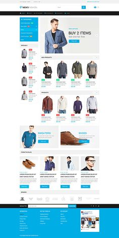 Men's Fashion Online Store #Magento #template. #themes #business #responsive #webshop
