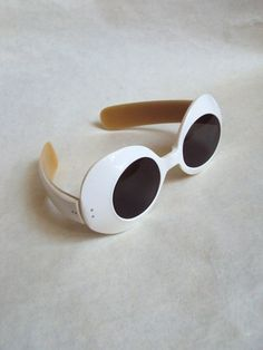 1960s Iconic white lucite Audrey Hepburn style sunglasses on Etsy, $105.93