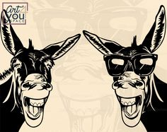 Donkey Svg files for cricut Funny farm animal clipart Farm Animals, Funny Animals, Wild Animals, Donkey Images, Donkey Drawing, Smile Wallpaper, Funny Farm, Animal Sketches, Funny Gifts