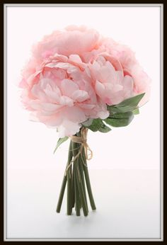 Full+Pastel+Whimsical+Pink+Peony+BOUQUET++by+simplyserra+on+Etsy,+$17.00