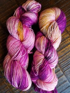 Hand Dyed Yarn | Fingering - Sock Weight | Superwash Merino Wool | High Twist - Fuchsia Pink Yellow Black