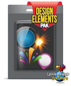 The Design Element Pak: Over 650 high quality design elements. Can be used with The Creator graphic design software!  Buttons, banners, glossy boxes, transparent boxes, price stickers, arrows and SO much more!