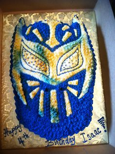 Isaac's Sin Cara cake from http://dellenconfections.com  WWE Birthday cake