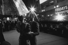 Image created using a starburst filter and converted to black and white) Dakota Johnson and Jamie Dornan attend the 'Fifty Shades Darker' UK Premiere on February 9, 2017 in London, United Kingdom.