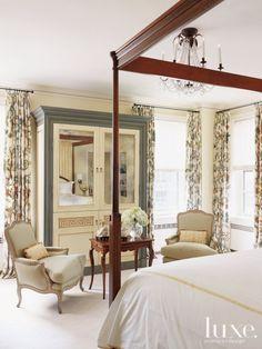 Traditional Cream Master Bedroom