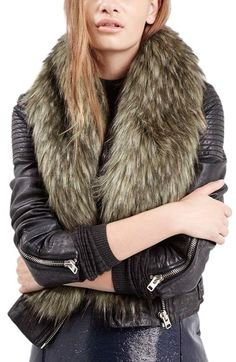 Topshop Faux Coyote Fur Stole available at #Nordstrom
