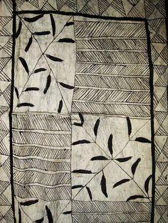 VINTAGE TAPA CLOTH: HIAPO TAPA CLOTH , NIUE, CA 1890 #1