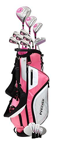 Best Golf Bags | Precise M5 Ladies Womens Complete Right Handed Golf Clubs Set Includes Titanium Driver SS Fairway SS Hybrid SS 5PW Irons Putter Stand Bag 3 HCs Pink Pink Right Hand -- Click on the image for additional details.(It is Amazon affiliate link) #likesforlikes