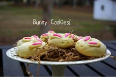 Bunny Cookies Recipe!  {these would look SO cute at your Easter parties!} #easter #bunny #cookies