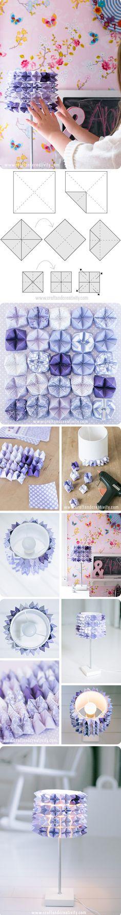 Lámpara DIY con papel plegado (Fortune Teller Lamp)