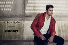 Giorgio Brato - Welcome Red Leather, Leather Jacket, Welcome, Paris, Jackets, Fashion, Studded Leather Jacket, Down Jackets, Leather Jackets