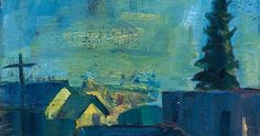 Late Night Crockett Wine Haven #2 (Pt. Molate), 12 x 16, Oil on Panel Mt. Diablo Ranch, 1995 Stormy Day, Berkel...