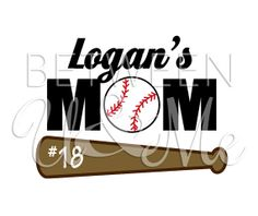 Personalized Baseball MOM with Name Number by CleanCutStudio, $6.99