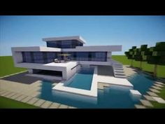 MINECRAFT: How To build A Modern House / Best modern House 2013 - 2014 ( hd ) Tutorial - YouTube