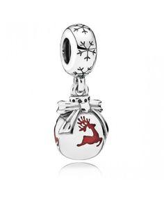 Pandora Prancing Reindeer Pendant Charm 791768EN07 Sale 70% Off