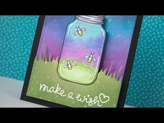 Interactive fireflies card that lights up with Chibitronics and Lawn Fawn Swing Card, Rainbow Card, Slider Cards, Lawn Fawn Stamps, Interactive Cards, Card Tricks, Card Making Tutorials, Luz Led, Embossed Cards