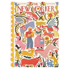 All Posts • Instagram New Yorker Covers, The New Yorker, Framed Artwork, Wall Art, Botanical Art, Watercolor Paper, Find Art, Vivid Colors, Giclee Print