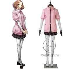 Popular Persona 5 Haru Okumura Cosplay Costume Shoes Hallowmas Boots custom made