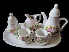 Minature Porcelain Tea Set  Doll House Tea by JewelsOfHighElegance, $10.00