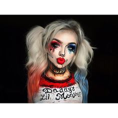 Looking for for ideas for your Halloween make-up? Browse around this site for cute Halloween makeup looks. Joker Halloween, Cute Halloween Makeup, Halloween Kostüm, Halloween Costumes, Clown Makeup, Costume Makeup, Eye Makeup, Beauty Makeup, Maquillage Harley Quinn