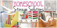 Here are some simple homeschool storage solutions to help cut the chaos.
