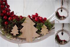 świąteczny wieniec/ christmas ring, mech/moss, robótki ręczne/hand made