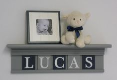 Navy Blue and Gray Nursery Wall Decor / Room Decor by NelsonsGifts, $45.00