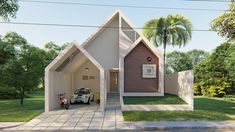 House Layout Plans, House Layouts, Small House Design, Modern House Design, Muji House, Kerala Houses, Modern Bungalow House, Rustic Cafe, Architect House