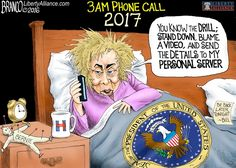 Nightmare- It's a President Hillary Clinton 3am phone call. #WakeUpAmerica ..cartoon by A.F.Branco 2016