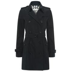 Burberry The Kensington Mid-Length Heritage Trench Coat ($1,625) ❤ liked on Polyvore featuring outerwear, coats, jackets, mid length coat, slim coat, slim fit coat, lightweight trench coat and fur-lined coats
