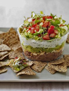Layered dips are always popular, and easy, too.