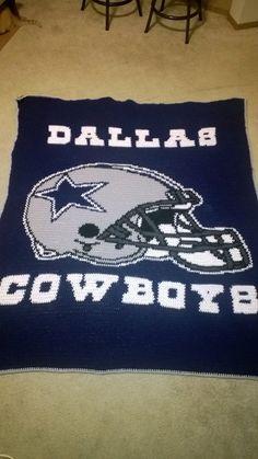 Kitchen Rug Dallas Cowboys crochet blanket
