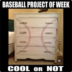 Baseball repurposed furniture