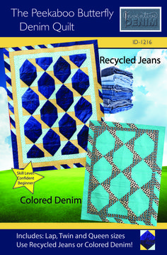 Make this quilt from your old jeans! New pattern from Inventive Denim!