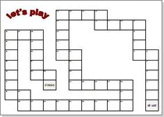 Customizable board game templates - great activity to just make one, let alone play it