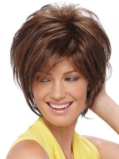 Cool Auburn Straight Short Synthetic Wigs