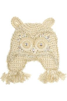 Anna Sui- Embellished crocheted owl hat. This is quirky and cute!