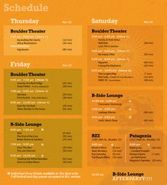 stage schedule - google search