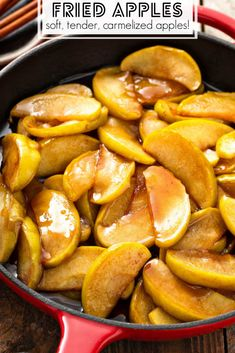 These sweet Southern style Fried Apples are just like the ones you eat at Cracker Barrel, but even more delicious when homemade! Great side dish or dessert! Holiday Side Dishes, Thanksgiving Side Dishes, Thanksgiving Recipes, Holiday Desserts, Holiday Baking, Apple Recipes, Pumpkin Recipes, Cracker Barrel Fried Apples, Recipes