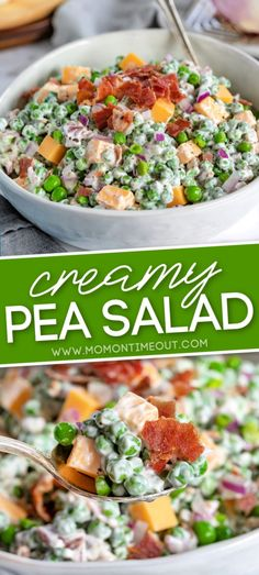 The BEST Pea Salad - Easy & Delicious! | Mom On Timeout
