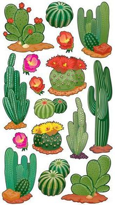Search: cactus > Desert Cactus Stickers - EK Success: A Cherry On Topone of these would make a cute tattoo Desert Cactus Scrapbooking Stickers - StickoOh Baby Girl - Scrapbooking StickersFind Desert Cactus at Simplicity, plus many more unique crafts Decoration Cactus, Cactus Craft, Cactus Drawing, Cactus Painting, Garden Drawing, Cacti And Succulents, Cactus Plants, Indoor Cactus, Garden Cactus